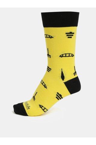 Žluté unisex ponožky Fusakle Archikony BA