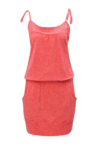 Červené vzorované šaty s kapsami LOAP Amie