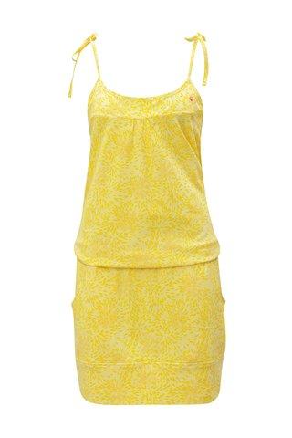 Rochie oranj-galben cu model si buzunare LOAP Amie