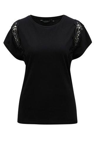 Tricou negru cu dantela Dorothy Perkins