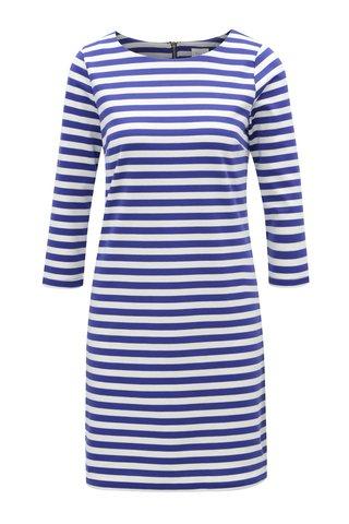 Modro-krémové pruhované šaty VILA Vitinny
