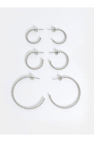 Set de 3 perechi de cercei argintii Pieces