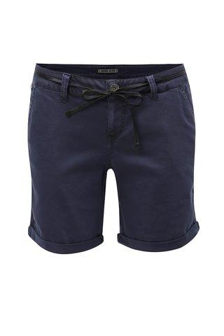 Pantaloni de dama scurti albastru inchis cu snur Garcia Jeans