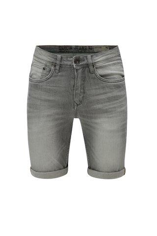 Pantaloni barbatesti scurti gri din denim cu aspect prespalat Garcia Jeans Russo short