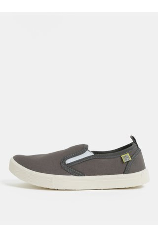 Pantofi slip on gri inchis MILAN Oldcom