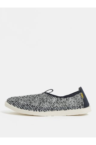 Pantofi barbatesti slip on alb-albastru cu detalii din piele naturala SUMMER Oldcom