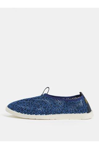 Pantofi barbatesti slip on albastri cu detalii din piele naturala SUMMER Oldcom
