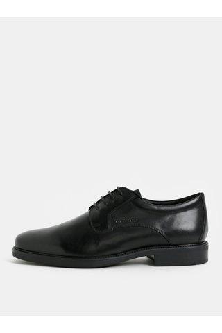 Pantofi barbatesti negri din piele naturala Geox