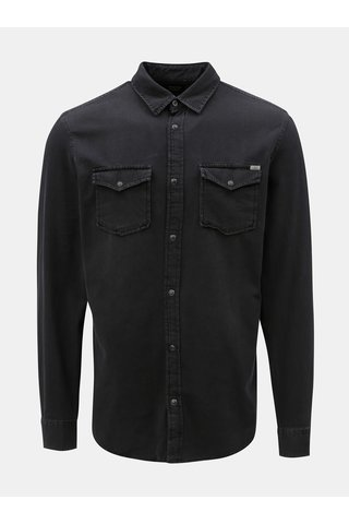 Camasa neagra din denim Jack & Jones