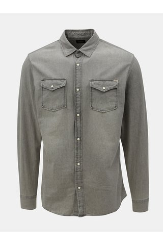 Camasa gri din denim Jack & Jones