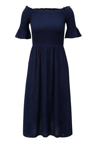 Rochie midi albastru inchis cu decolteu pe umeri Dorothy Perkins