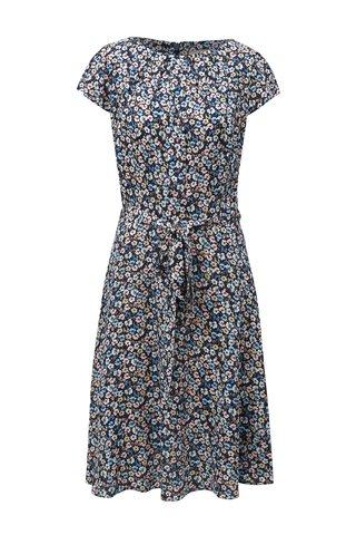 Rochie albastru inchis cu model floral si cordon detasabil in talie Billie & Blossom Tall