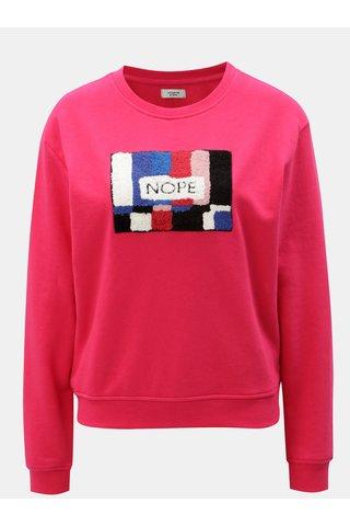 Bluza sport roz prafuit cu aplicatie colorata Jacqueline de Yong Class