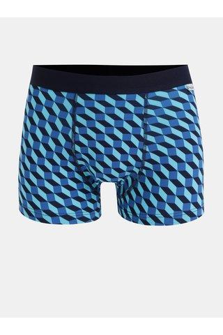Modré vzorované boxerky Happy Socks Filled Optic