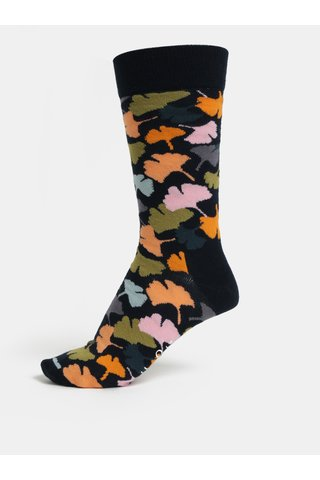 Sosete unisex albastre cu model Happy Socks Ginko
