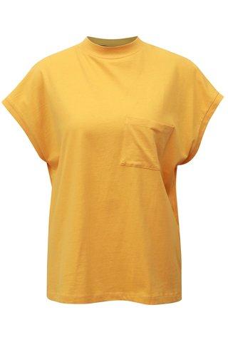 Tricou galben cu buzunar la piept Noisy May Sia