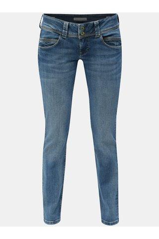 Blugi albastri straight din denim Pepe Jeans