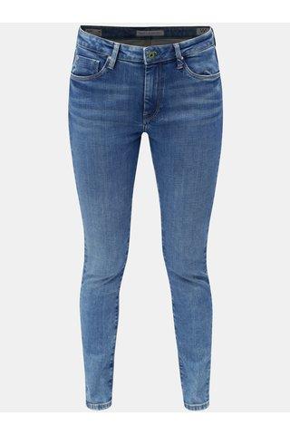 Blugi de dama albastri skinny din denim cu talie inalta Pepe Jeans