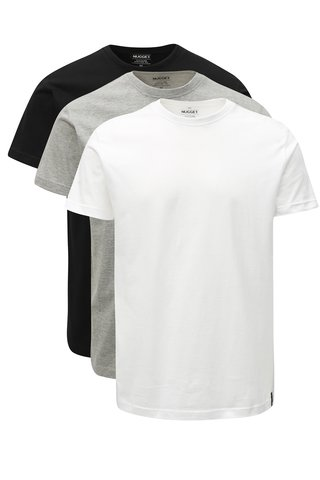 Set de 3 tricouri barbatesti cu maneci scurte NUGGET Scale
