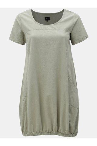 Khaki balónové šaty Zizzi