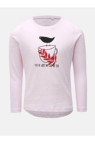 Růžové holčičí tričko s dlouhým rukávem Name it