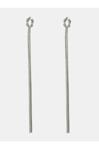 Cercei lungi argintii cu noduri Pieces Tonja