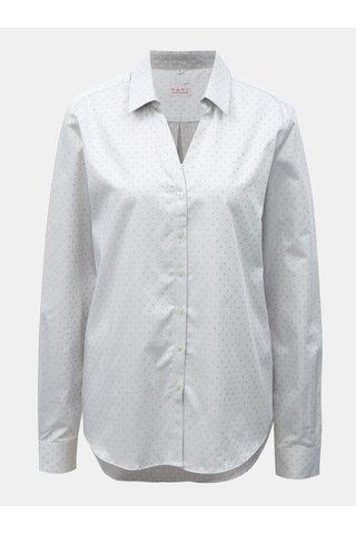 Světle šedá dámská vzorovaná košile s rozhalenkou VAVI