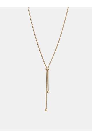 Colier auriu cu snur Pieces Tonia