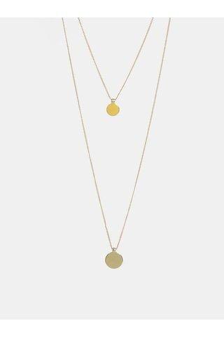 Colier auriu cu pandantiv galben Pieces Trine