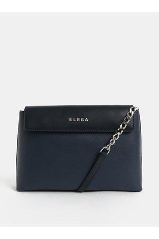 Modrá kožená crossbody kabelka ELEGA