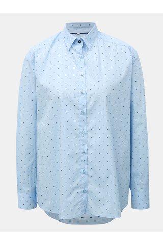 Světle modrá dámská volná košile s puntíkovaným vzorem VAVI