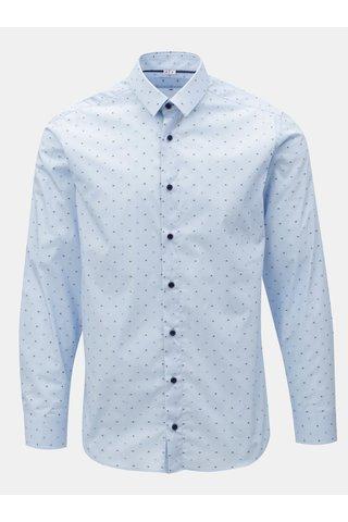Světle modrá pánská puntíkovaná formální košile  VAVI