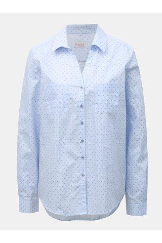 Bílo-modrá dámská pruhovaná košile s rozhalenkou a náprsními kapsami VAVI