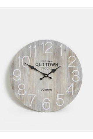 Šedé nástěnné hodiny Dakls