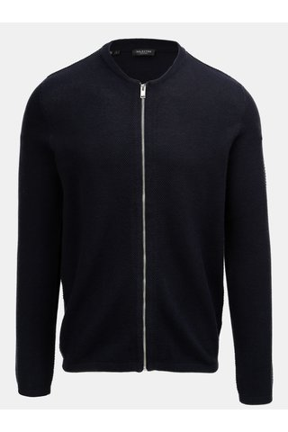 Modrý cardigan na zip Selected Homme