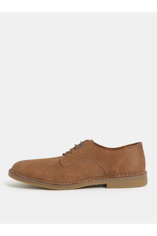 Pantofi maro din piele intoarsa Selected Homme