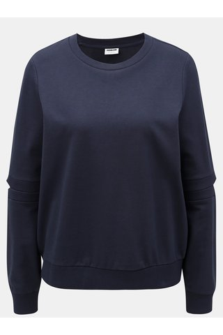 Bluza sport albastru inchis lejera cu decupaje pe maneci Noisy May