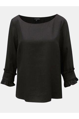 Bluza neagra cu maneci ¾ Selected Femme