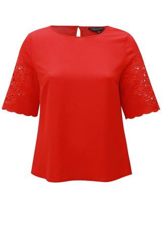 Bluza rosie cu dantela Dorothy Perkins
