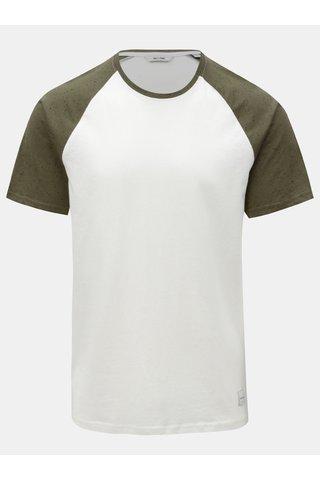 Zeleno-bílé tričko s krátkým rukávem ONLY & SONS