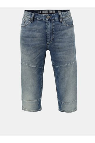 Pantaloni barbatesti scurti albastri regular fit din denim s.Oliver