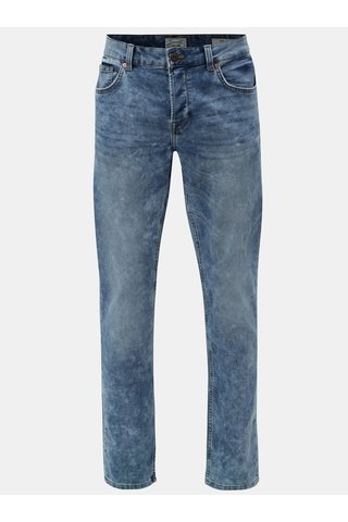 Světle modré džíny s potrhaným a vyšisovaným efektem ONLY & SONS