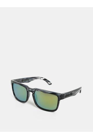 Šedo-černé vzorované sluneční brýle Meatfly