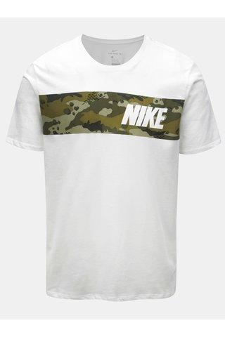 Tricou barbatesc alb functional Nike Block Camo