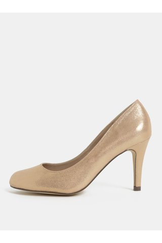 Pantofi roz auriu cu aspect lucios Dorothy Perkins