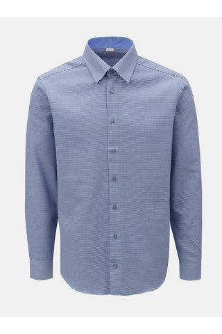 Modrá pánská vzorovaná košile s dlouhým rukávem VAVI