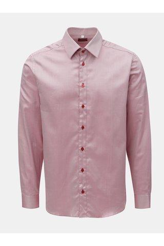 Růžová pánská pruhovaná košile s dlouhým rukávem VAVI
