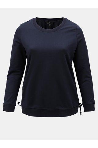 Bluza sport albastra cu sireturi laterale Ulla Popken
