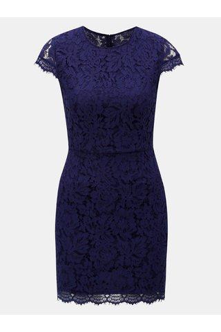 Rochie mini albastru inchis cu dantela si decupaj la spate MISSGUIDED