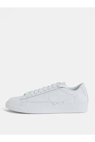 Bílé dámské kožené tenisky Nike Blazer Low Leather